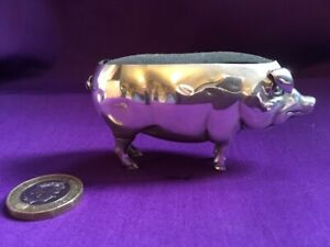 ANTIQUE Adie & Lovekin Ltd SILVER PIG PIN CUSHION 1905