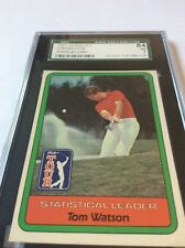 1982 Donruss Golf  Tom Watson Stat Leader SGC 84/7