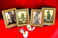 ARTIST J.HUMMER ( EARLY 1900 ) - COLLECTIBLES  REPRODUCTION KIDS SET + FRAME