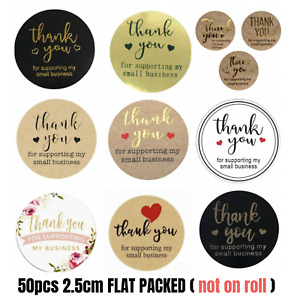 50pcs 25mm Thank You Sticker Thank you for supporting my small business sticker