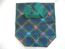 Fabric Tissue Box Cover for Square Tissue Box Kleenex Cover Green Scottish Check