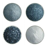 Jar #001444-0008-F Bullseye Glass Frit 90 COE Powder Sea Blue Transparent 1lb