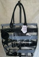 Disney Mickey Mouse Icon Clear Tote Bag With BlacK Strips Orlando,Fl Nwt