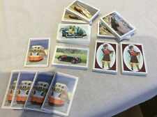 More details for castella cigar cards x13 sets complete - 6 different series tanks cars trains