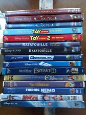 Disney DVD LOT Toy Story Cars WALLE UP Ratatouille Enchanted Monsters Nemo Alice