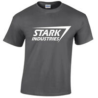 STARK INDUSTRIES MENS T SHIRT TONY MARVEL ARC FILM COMIC SHIELD GEEK NERD