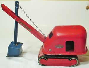 EARLY '50s TONKA #50? STEAM SHOVEL--LESS ONE TRACK--OVERALL GOOD!