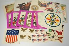 Vintage Meyercord Decals Large Lot Decorator Trimmit Patriotic Animal Art