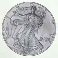 Better Date 2000 American Silver Eagle 1 Troy Oz .999 Fine Silver BU Unc