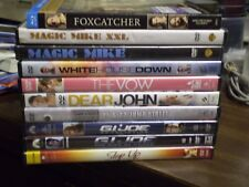 (11) Channing Tatum DVD Lot: Magic Mike XXL Dear John 21 & 22 Jump St Foxcatcher