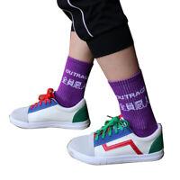 Fashion Sport Socks Unisex Letter Funny Street Cotton White Black SkateboaPL