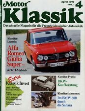 Motor Klassik 4/90 1990 Giulia Super Alpine A 110 Caterham Super Seven FLH 1200