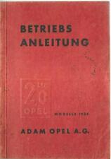 OPEL 2,0 LITER  Betriebsanleitung 1936 Bedienungsanleitung Handbuch Bordbuch BA