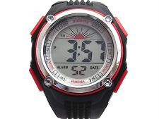 2pcs Men Boys Sports Digital Watch Alarm Date Day Watchlight Stopwatch Plastic