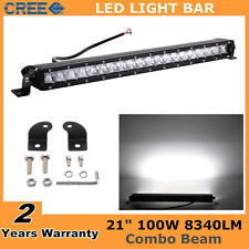 """21inch 100W Led Offroad Light bar Slim Single Row Combo Ford Boat Fog 4WD 22/20"""""""