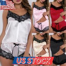 US Women Sexy Lingerie Sleepwear Underwear Lace Silk Babydoll Sleepwear Pajamas