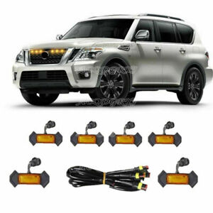 For Nissan Armada Patrol Y62 Front Grille LED Light Raptor Style Grill Cover Kit