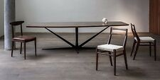 Modern Dining Table with Sculptural Steel Base