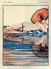 Vie Parisienne Cover Fashion Umbrella Pool Swim Vintage Poster Repro FREE S/H