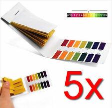 400x PH Test Strips Litmus Paper Tester Urine Saliva Aquarium (5 Packs of 80)