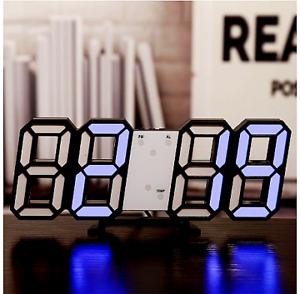 LED Digital Wall Clock Alarm Date Temp Automatic Backlight Table Desktop Clock