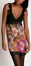 FREE PEOPLE Crochet Wool Boho Floral Flower Lace Rhinestone Babydoll Dress 6