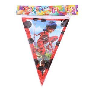2.5 Meter Kids Miraculous Ladybug Birthday Party Bunting banner Flag Theme