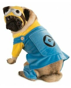 Minion Pet Costume Despicable Me 2 Yellow Gru Dog Movie Funny