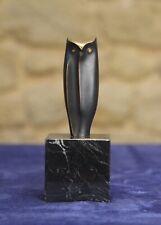 Jose Luis Pequeno Bronze sculpture Buho II Owl.