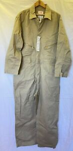 WALLS MEN'S 50 REGULAR COVERALLS JUMPSUIT, KHAKI, COTTON, NEW WITH TAGS!