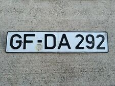 Vintage GERMAN DIN LICENSE PLATE #GFDA292 Gifhorn, Lower Saxony