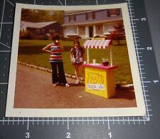 1970's KOOL-AID STAND GIRL Lemonade Child Business Retro Fashion Vintage PHOTO