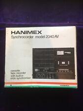 Vintage Cassette Player Hanimex Synchrocorder Model 2040 BNIB New Old Stock 1970