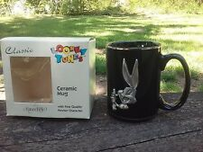 Bugs Bunny Pewter Figure Ceramic Mug Cup Looney Tunes 1996 Rawcliffe Rare In Box