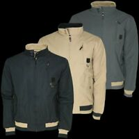 Mens Zip Up MJ ANDOM Cuffed Harrington Bomber Jacket Classic Retro Biker Coat