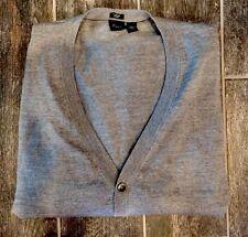 **Men's Hugo Boss Blazer Cardigan Jacket Silver EUC Black Label Slim Fit Size L*