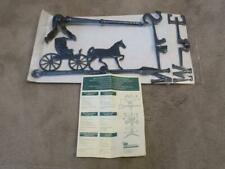 "Whitehall 24"" HORSE & BUGGY COUNTRY DOCTOR WEATHERVANE Cast Aluminum Black NEW"