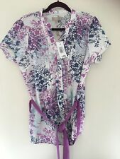 SOON FLORAL TOP SIZE 16 BNWT 100% COTTON