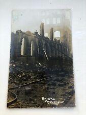 More details for 1905 photo type postcard. bristol - building damage  ( fred little )