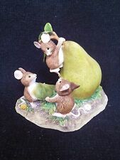 BORDER FINE ARTS FIGURINE MOUSE mice pear drop a1630