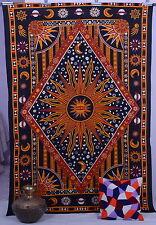 double paroi psychédélique lune tapisserie soleil pendaison indien décoration