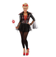 LADIES SEXY LITTLE MISS CHEEKY DEVIL FANCY DRESS HALLOWEEN OUTFIT COSTUME WOMENS