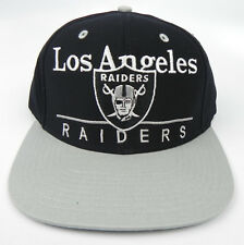 LOS ANGELES OAKLAND RAIDERS NFL VTG 2-TONE BAR SNAPBACK CAP HAT NEW! BLACK/GRAY
