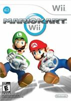 Nintendo Wii Mario Kart Complete CIB w/ Manual Tested Working Free Shipping!