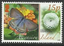 ASCENSION 2008 ANIMALS EGGS BLUE BUTTERFLY 1v MNH