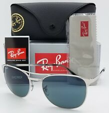 NEW Rayban Signet Sunglasses RB3429M 003/R5 58 Silver Blue Grey Signet AUTHENTIC