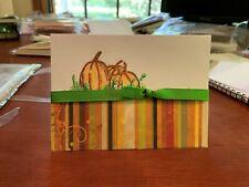 Homemade pumpkin notecard