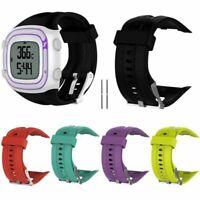 Sport Silicone Orologio Cinturino Fibbia Per Garmin Forerunner 10 15 GPS Watch H
