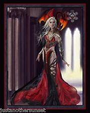 """Nene Thomas Print Severeielle Red Black Dragon Witch 8""""x10"""" Rare Size New"""