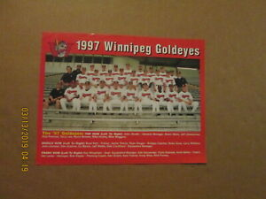 Winnipeg Goldeyes Vintage Circa 1997 Logo Baseball Team Photo